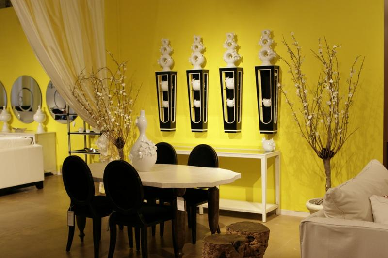 Modern Yellow Dining Room