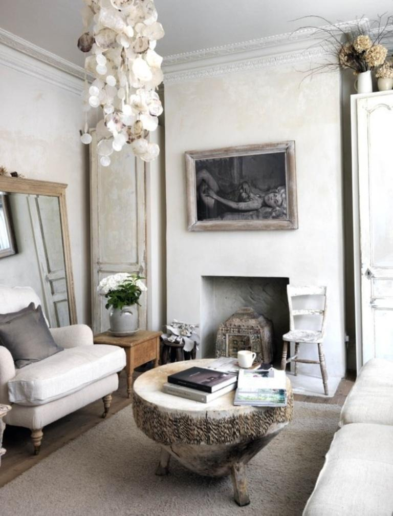 Monochrome Bohemian Living Room