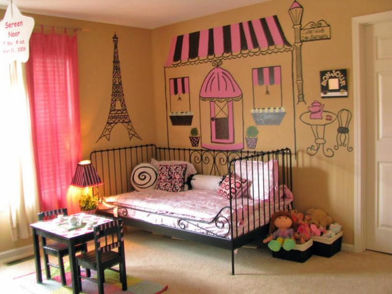 Paris Inspired Bedroom For Girls