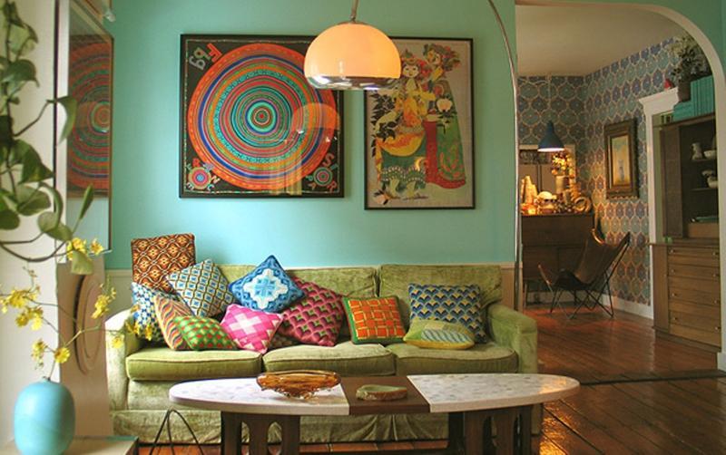 Pastel Bohemian Living Room
