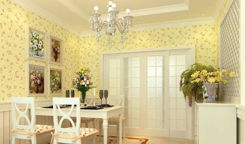 Romantic Pastel Yellow Dining Room Part 37