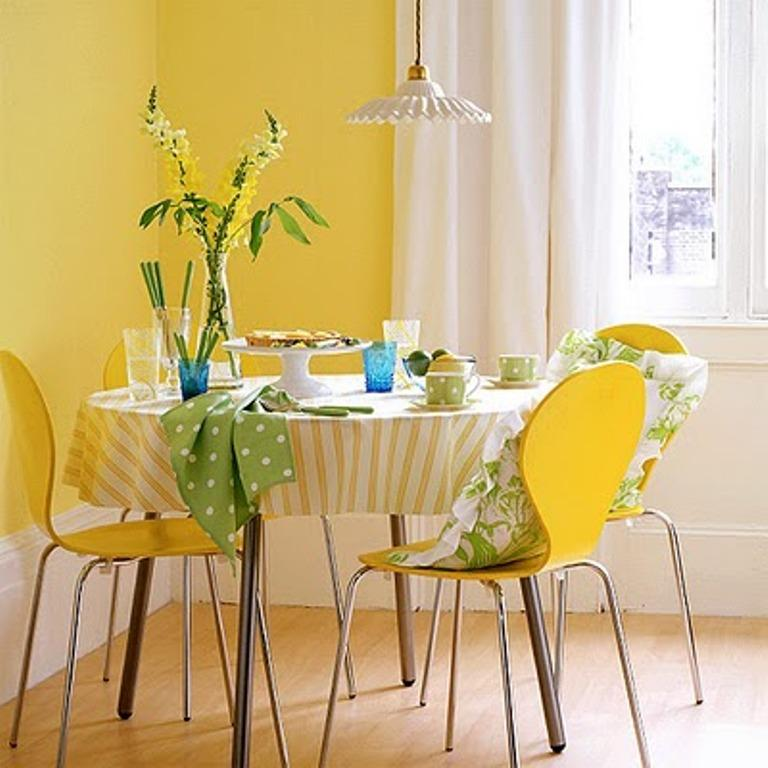15 breezy yellow dining room designs - rilane