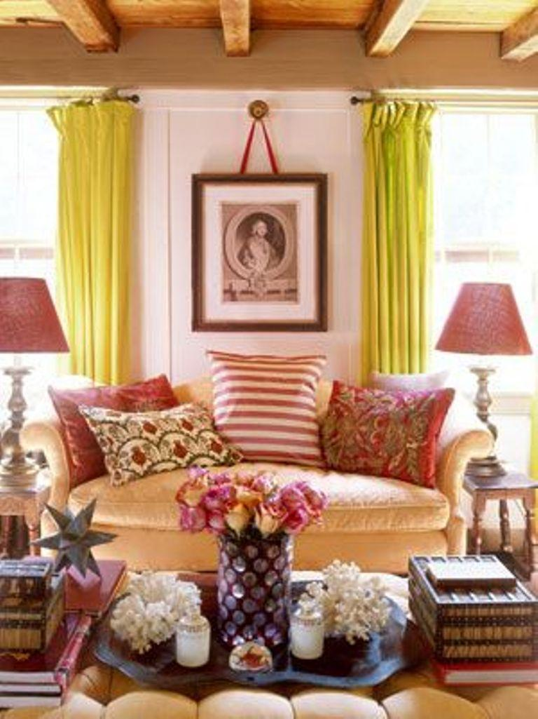 Orange curtains living room - Soft Green Living Room Curtains