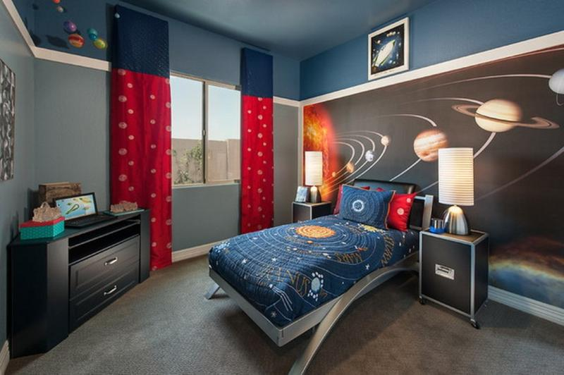 Space Themed Bedroom. 15 Fun Space Themed Bedrooms for Boys   Rilane