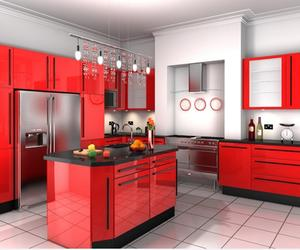 15 Contemporary Kitchen Designs with Red Cabinets