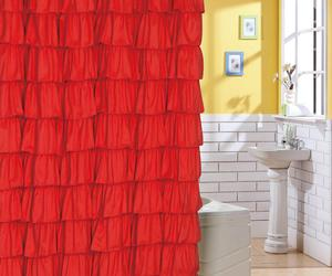 10 Lively Ruffled Shower Curtain Designs