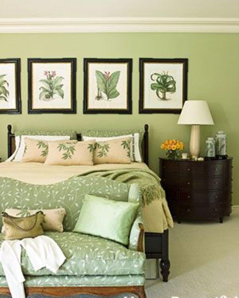 Beau Traditional Pale Green Bedroom