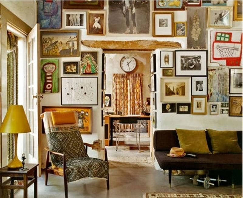 20 inspiring bohemian living room designs rilane for Decoracion para pared vintage