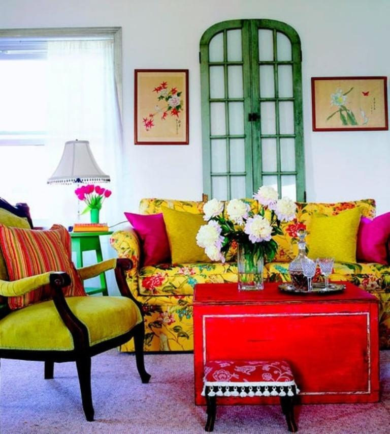 Vintage Bohemian Living Room Part 96