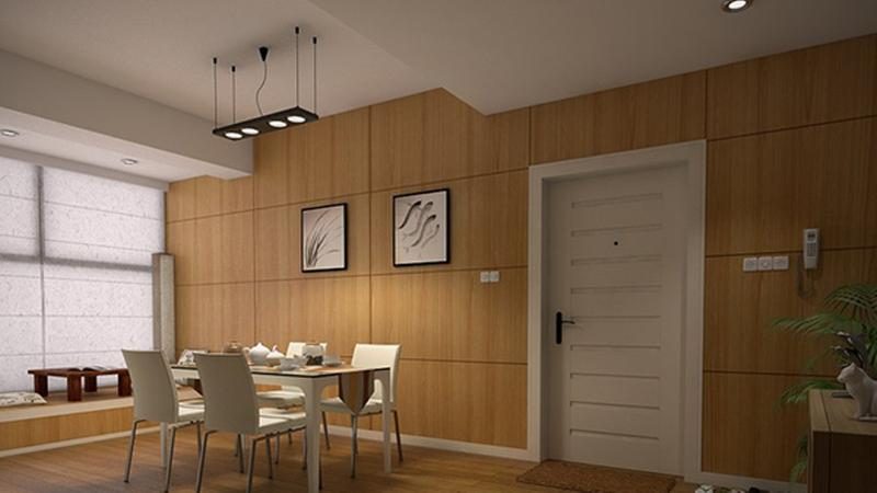 Airy Dining Room Wooden Panel