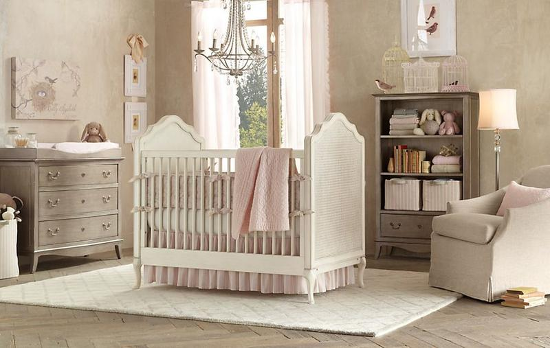 16 adorable baby girl s nursery ideas rilane for Baby girl crib decoration ideas
