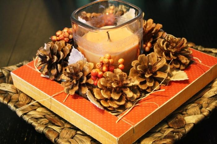 15 awesome candle table center piece ideas rilane - Thanksgiving dinner table decorations ...