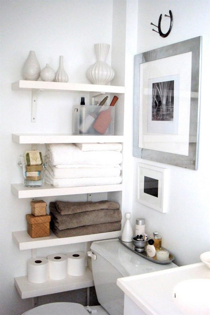 Creative bathroom storage ideas - Bathroom Storage Shelves