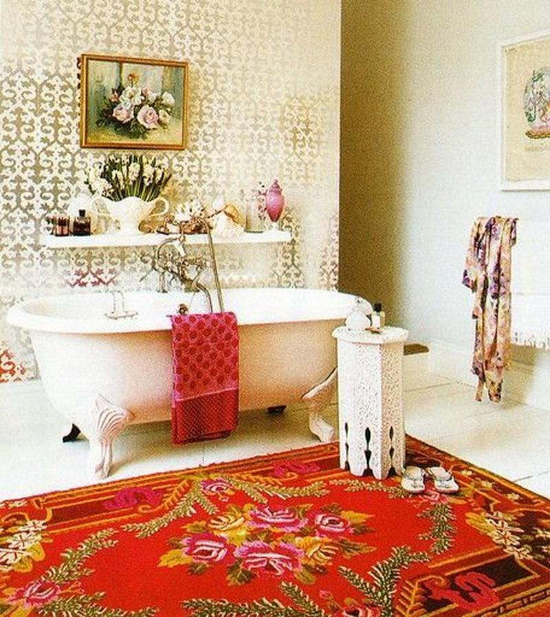 Beautiful Bohemian Bathroom. 15 Captivating Bohemian Bathroom Designs   Rilane