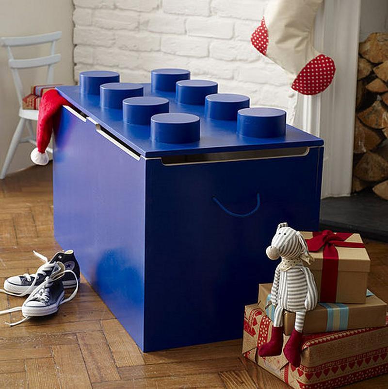 big blue lego toy box - Toy Storage Boxes