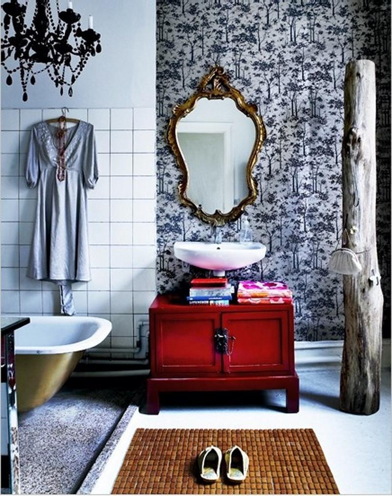 15 Captivating Bohemian Bathroom Designs - Rilane