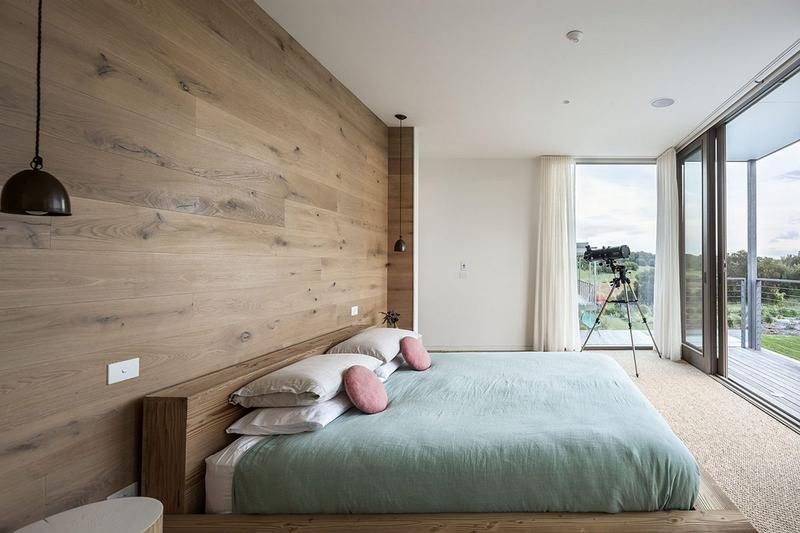 Bold Bedroom With Glass Walls