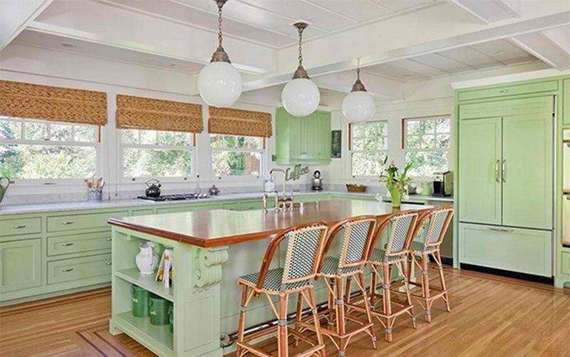 Marvelous Green Kitchen Ideas Part - 12: Bright Green Kitchen