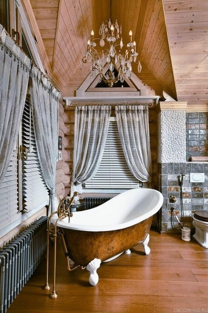 Charming Bathroom With Copper Bathtub