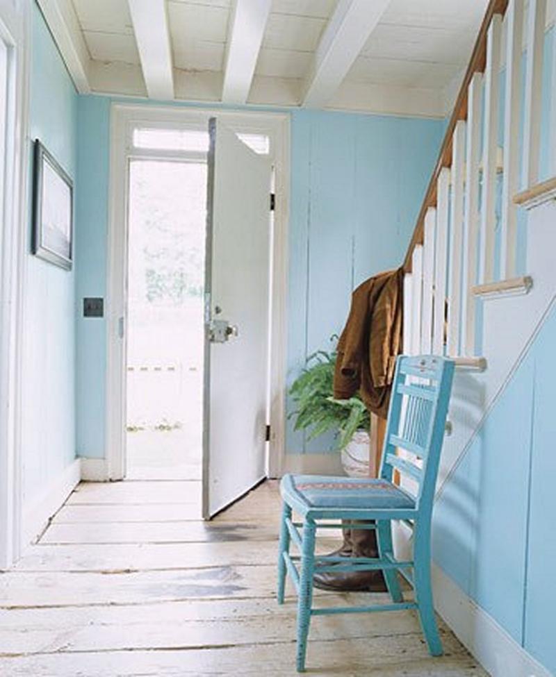 Cheery Blue Hallway