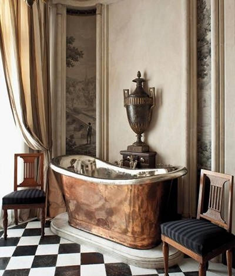 15 Bold Bathroom Designs With Copper Bathtub