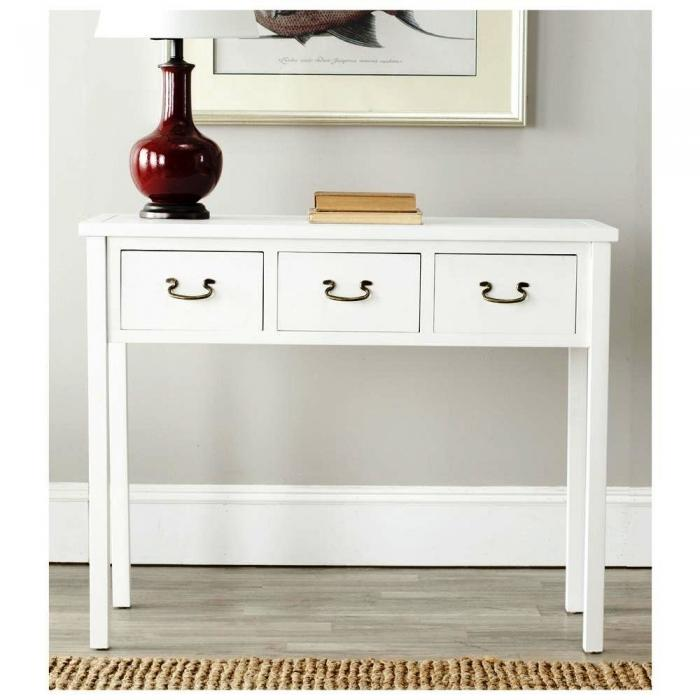 Cindy White Console Table