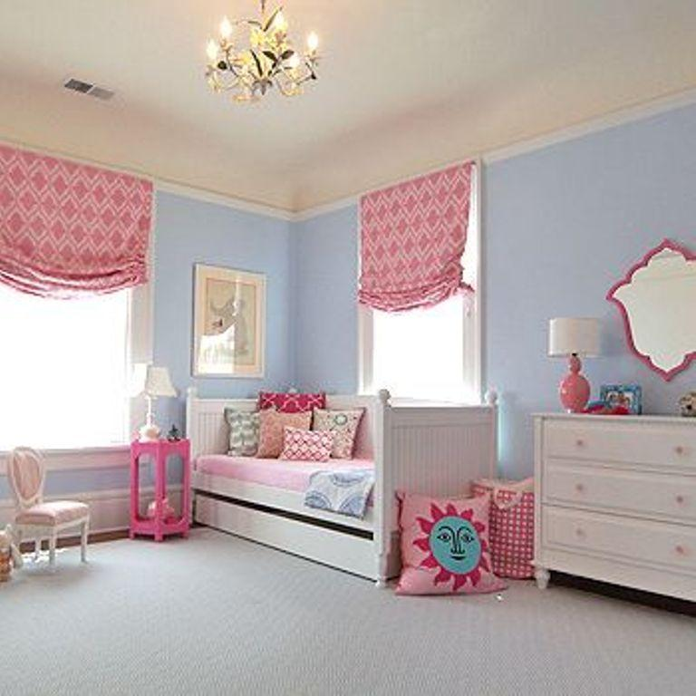Classy Pink And Blue Bedroom