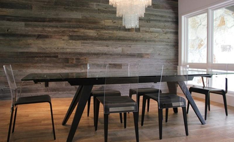 10 captivating dining rooms with wooden panels rilane rh rilane com dining room with white wood paneling Wainscoting Styles in Dining Rooms