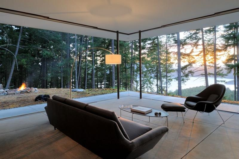 15 amazing glass walls living room designs rilane