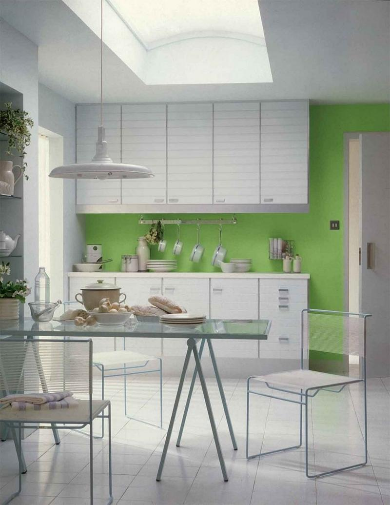 Contemporary Green Kitchen