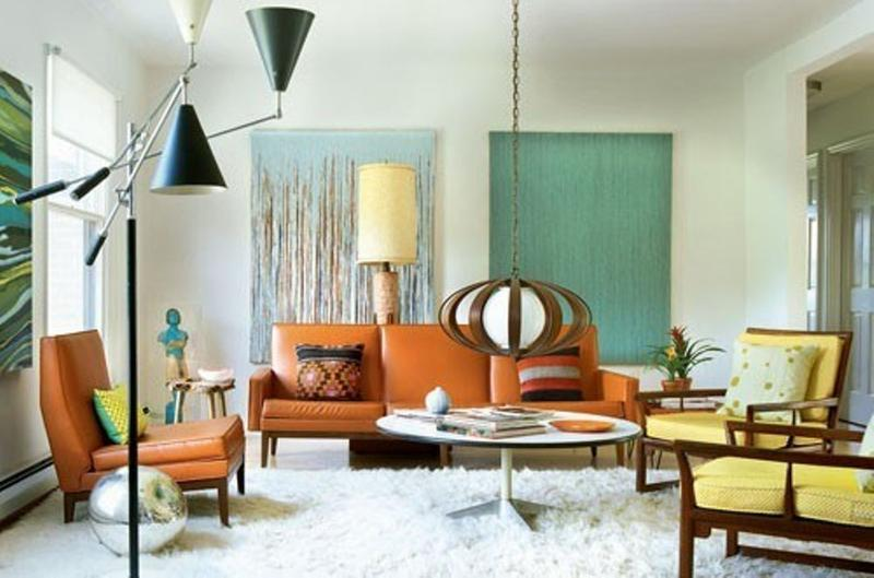 contemporary mid century living room - Midcentury Living Room Ideas