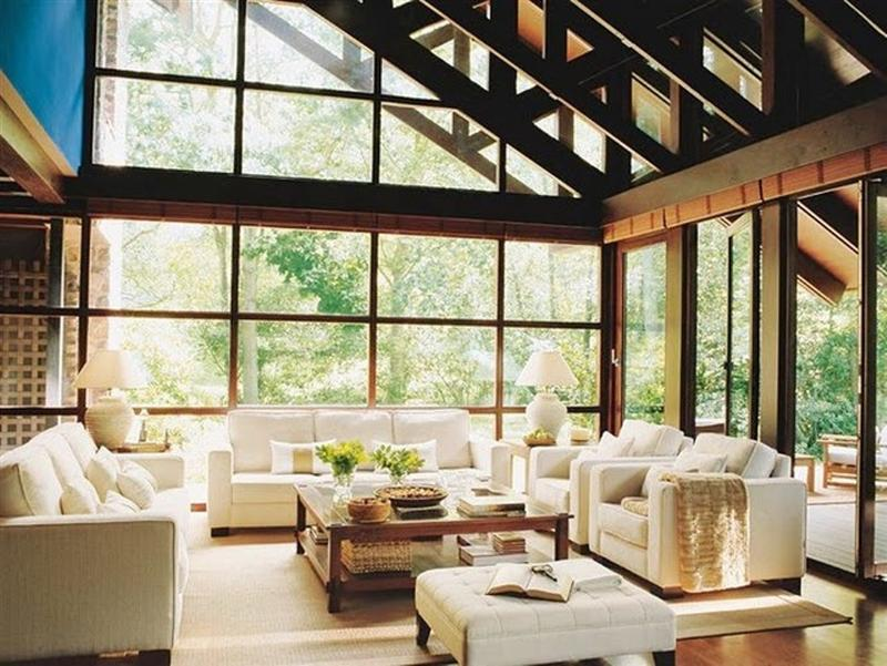 15 Amazing Glass Walls Living Room Designs - Rilane