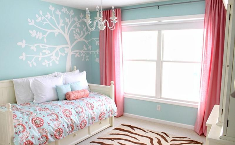cute pink and blue bedroom. Interior Design Ideas. Home Design Ideas
