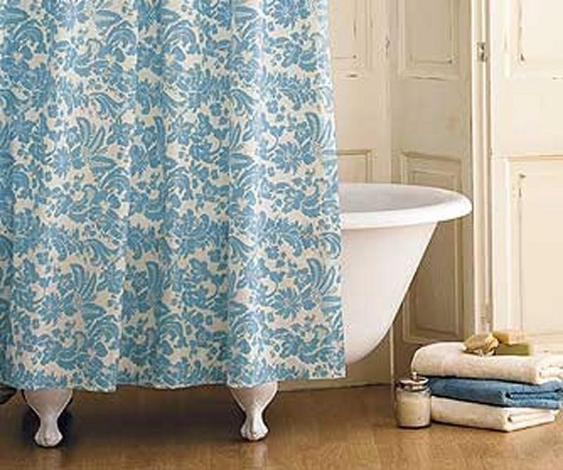 Damask Print Vintage Shower Curtain