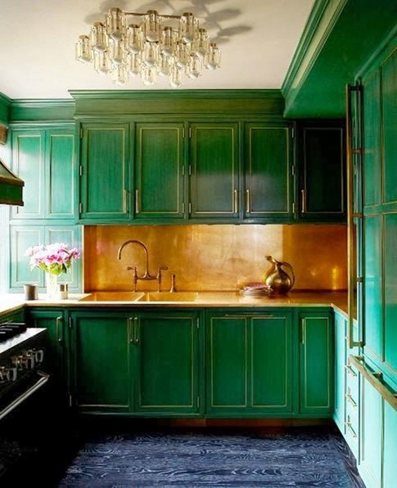 Distinctive Green Kitchen