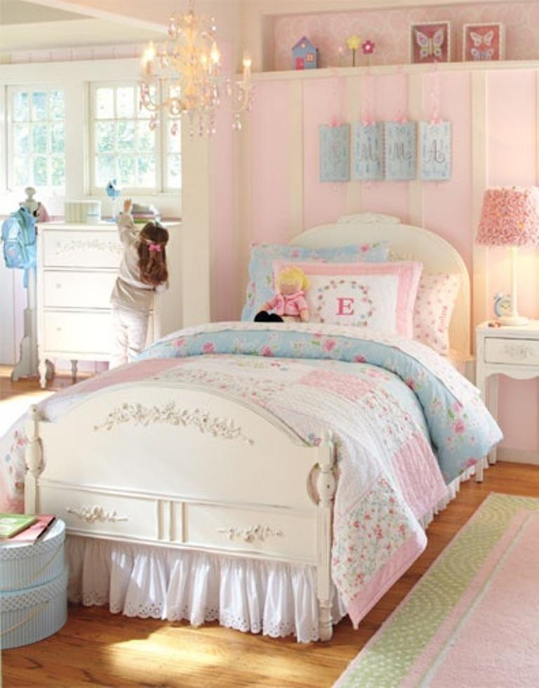 15 adorable pink and blue bedroom for girls rilane - Girl bed room ...