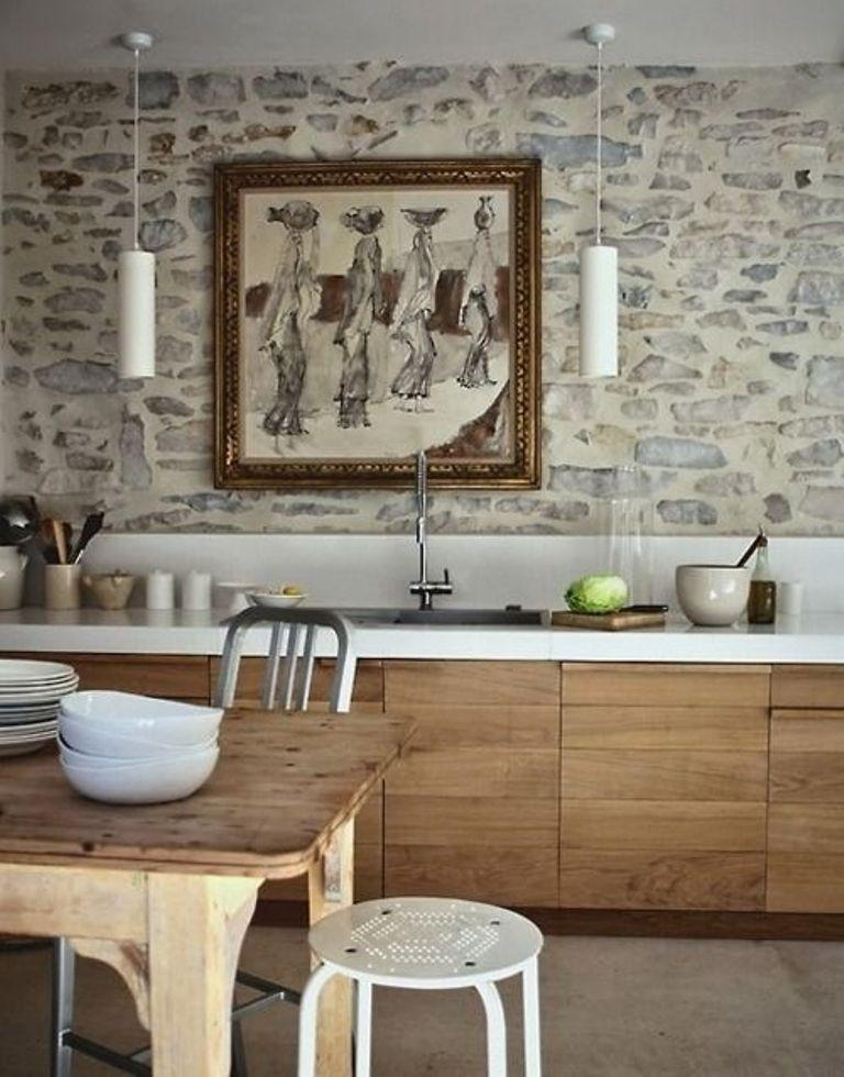 Stone Walls Inside Homes 15 natural kitchen designs with stone wall - rilane