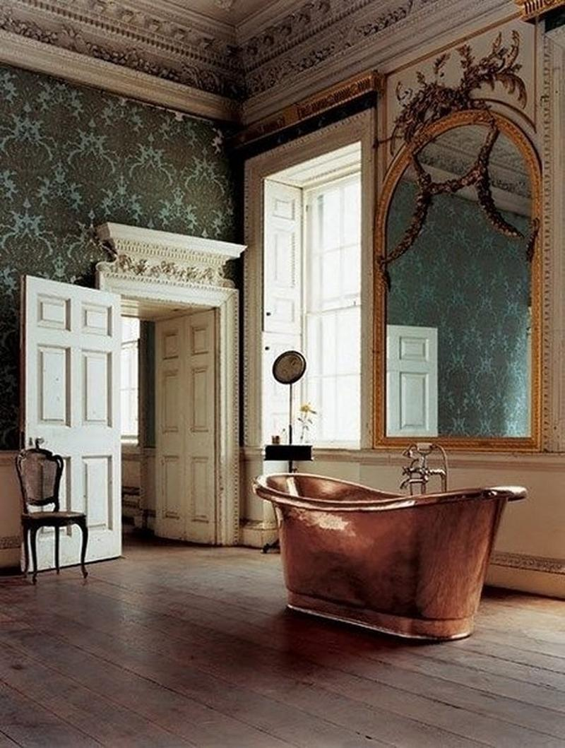 15 Bold Bathroom Designs with Copper Bathtub - Rilane