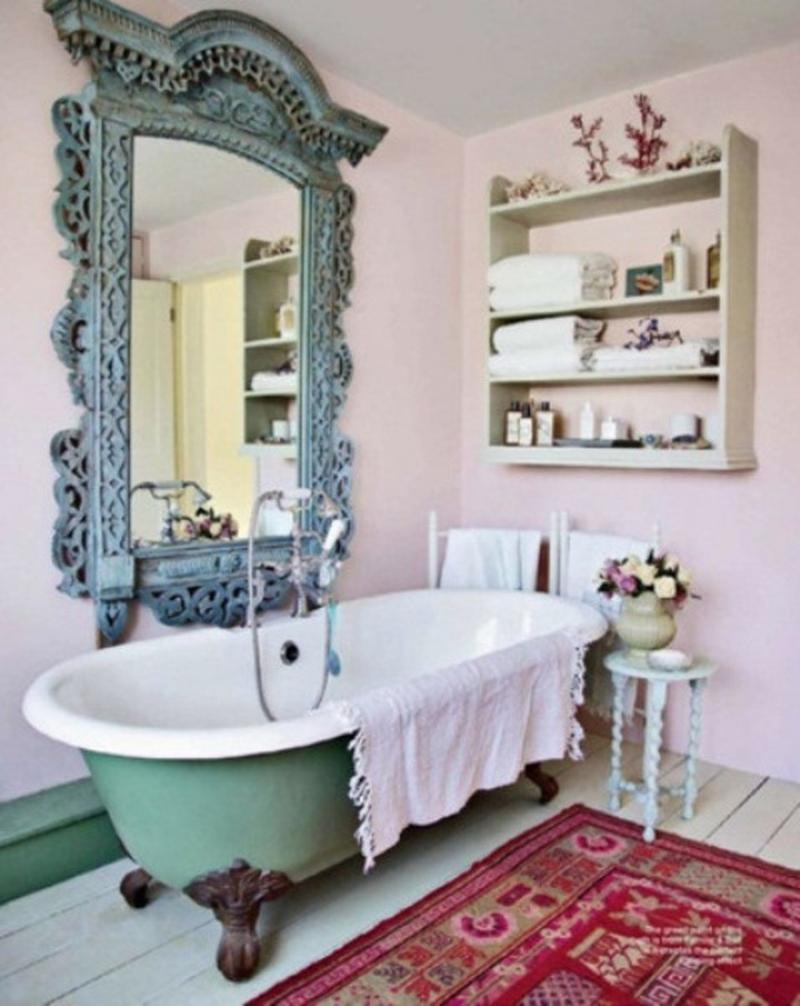 Feminine Bohemian Bathroom. 15 Captivating Bohemian Bathroom Designs   Rilane