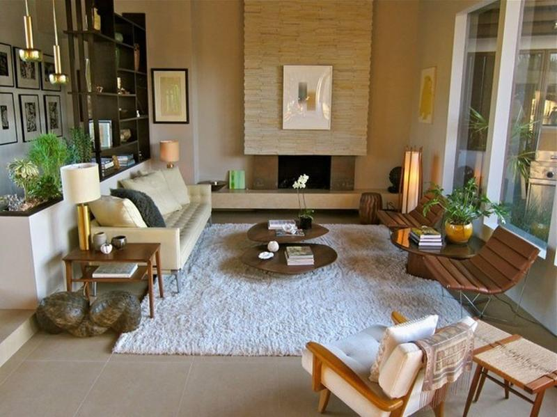 formal mid century living room - Midcentury Living Room Ideas
