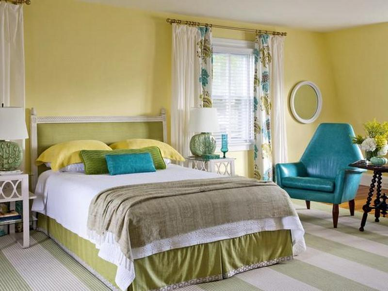 15 Pleasant Yellow Bedroom Design Ideas - Rilane
