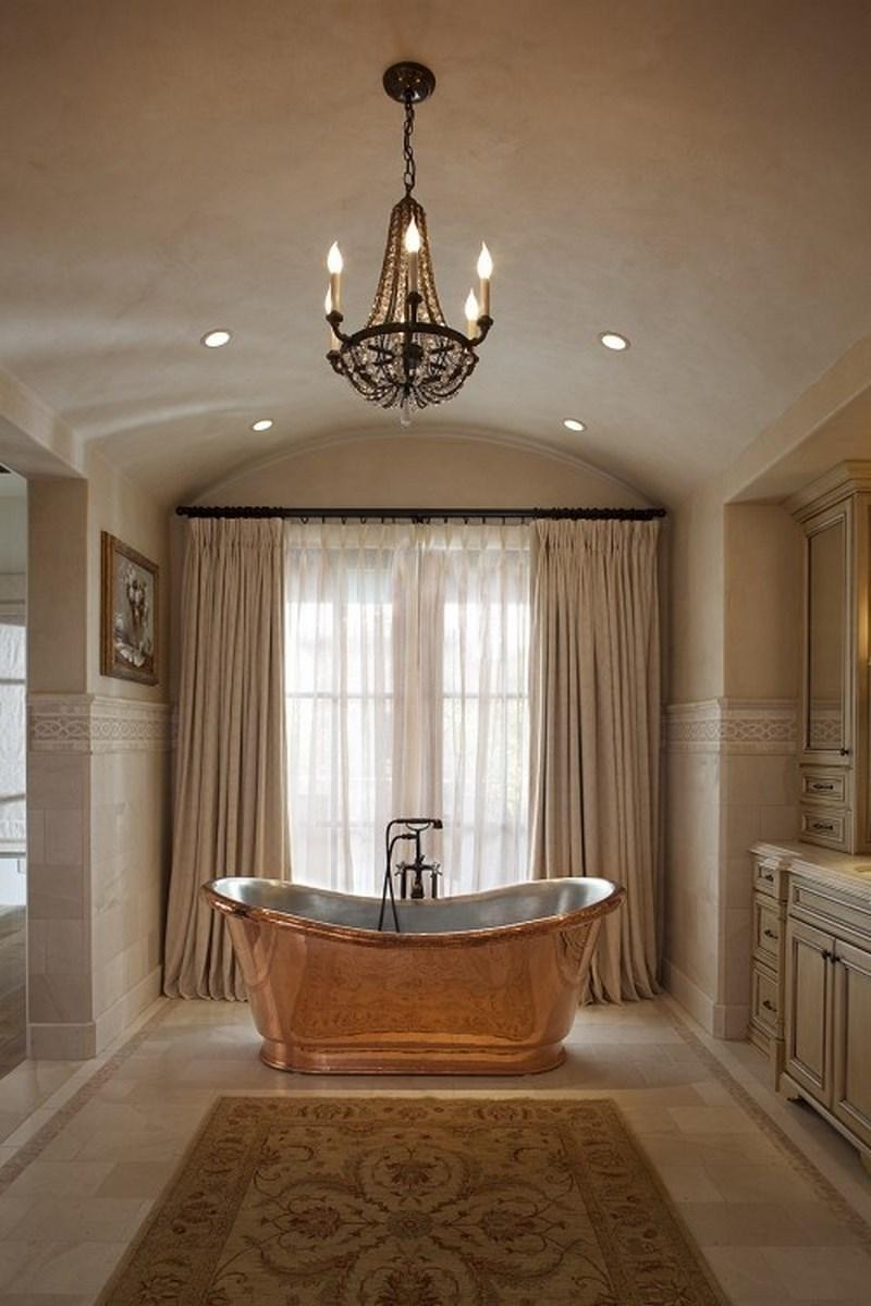 French Inspired Bathroom With Copper Tub