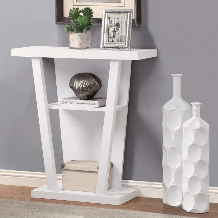 White Hallway Console Table 10 white console tables for the hallways - rilane