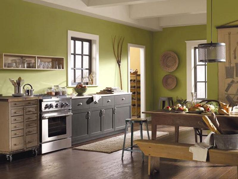 Lime Green Kitchen