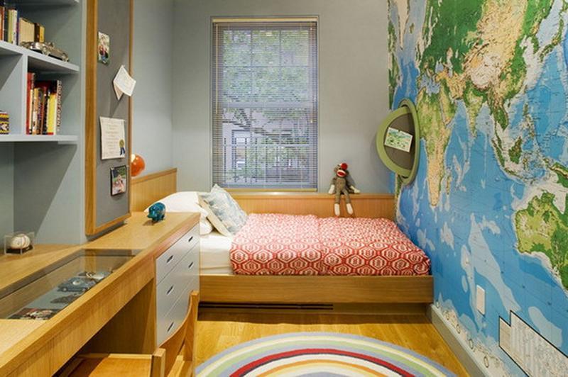 15 Boys Bedrooms With Map Walls Rilane