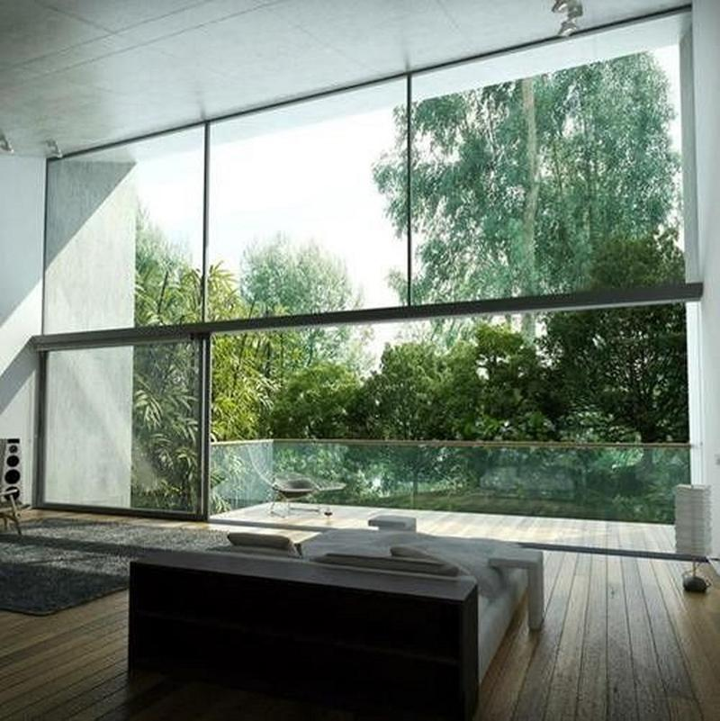 Magnificent Bedroom With Glass Walls