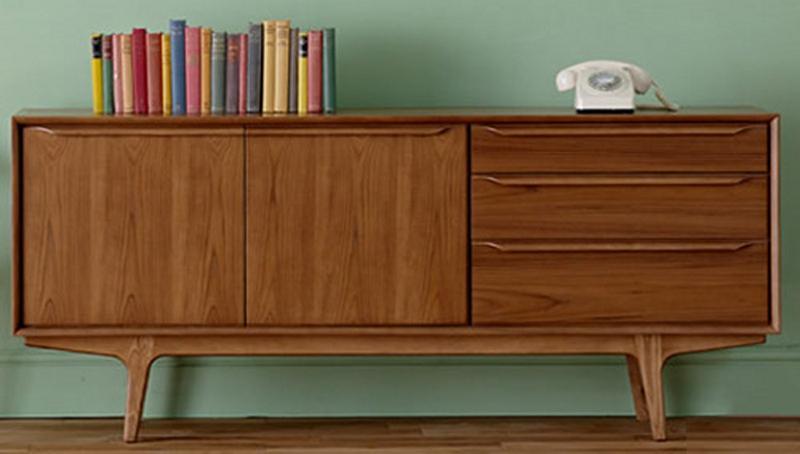 10 mid century sideboards for the living room rilane. Black Bedroom Furniture Sets. Home Design Ideas