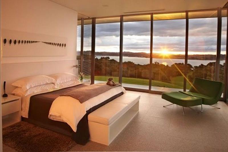 Minimalist Modern Bedroom With Glass Walls