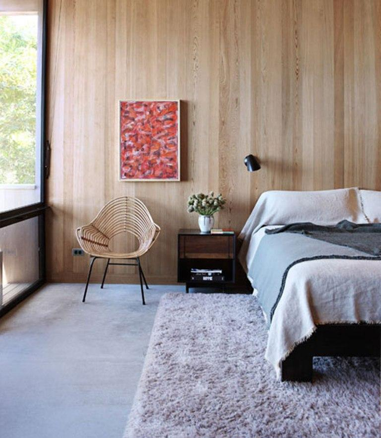 Wood Panel Bedroom Home Design Styles