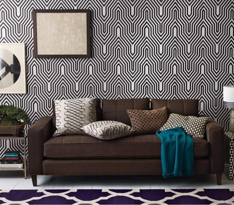 Modern Black And White Geometric Wallpaper